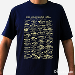 Fishes of the Adriatic T Shirt Dark Blue