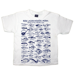 Fishes of the Adriatic Sea white cotton unisex child t shirt