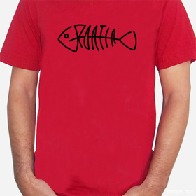 Croatia Fishbone  T Shirt Red