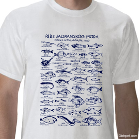 Fishes of the Adriatic T Shirt White